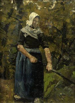 Bäuerin mit Stock, Richard Nicolaüs Roland Holst, 1890