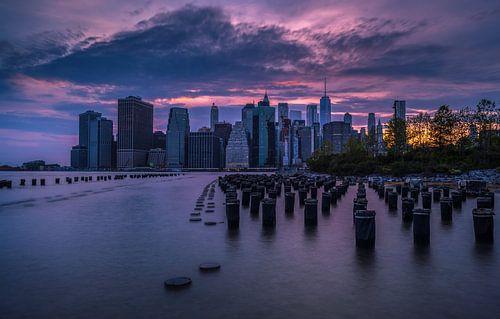 Big apple zonsondergang van Joris Pannemans - Loris Photography