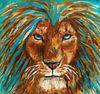 Porträt eines Löwen von Eye to Eye Xperience By Mris & Fred Miniaturansicht