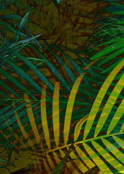 TROPICAL GREENERY LEAVES no6 van Pia Schneider