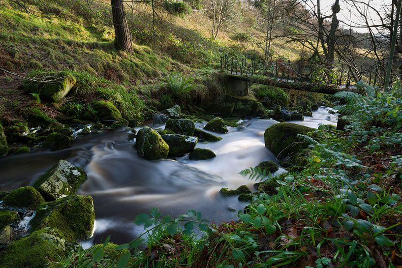 Fantasie brug met zacht water in een beekje in Ierland van Steven Dijkshoorn