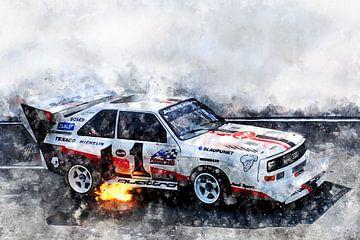 Audi S1, Pikes Peak, Walter Röhrl von Theodor Decker