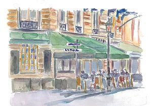 Parijse straatscène Romantisch Café Middag Romantisch Café in Parijs van