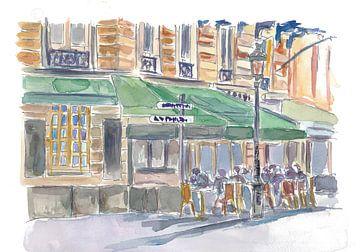 Scène de rue parisienne Café romantique Après-midi sur Markus Bleichner