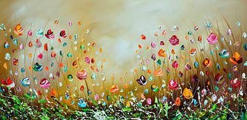 Bunte Blumen von Gena Theheartofart