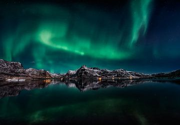 Lofoten Aurora Reflection, Javier de la van 1x