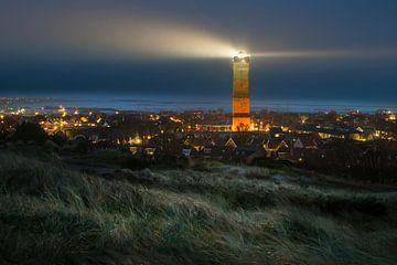 le phare de Terschelling au nuit sur Gerard Wielenga