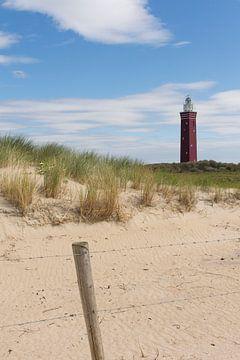 Leuchtturm Westhoofd in den Dünen von Ouddorp von Charlene van Koesveld
