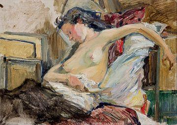 Stanisław Wyspiański Eine Frau, halb nackt