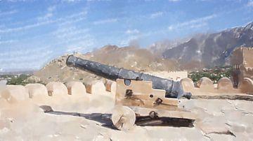 Canon dans un fort à Oman sur Frank Heinz