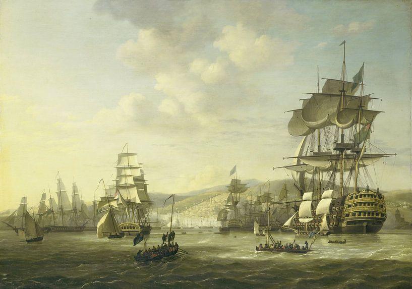 The Anglo-Dutch Fleet in the Bay of Algiers, Nicolaas Baur von Meesterlijcke Meesters