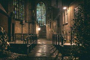 Achter de St. Janskerk van Eus Driessen