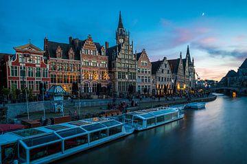 Graslei in Gent van Peter Deschepper