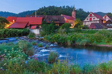 Vakwerkhuizen in Schiltach tijdens zonsopkomst van Henk Meijer Photography