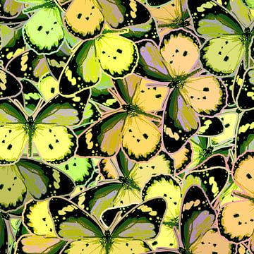 GRAFISCHE PRINT VLINDERS 5 van Marijke Mulder