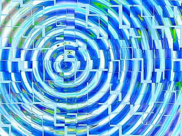 Square Dance (Blue) van Caroline Lichthart