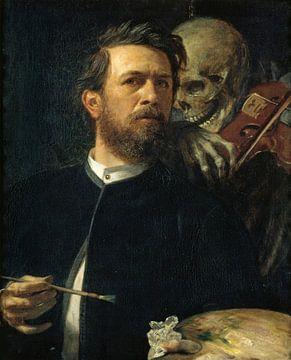 Zelfportret met de dood die de viool speelt, Arnold Böcklin van