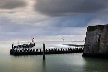 Hollandse wolkenlucht boven de haven van Vlissingen