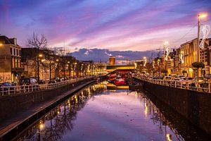 Bijzondere lucht tijdens zonsondergang in Utrecht