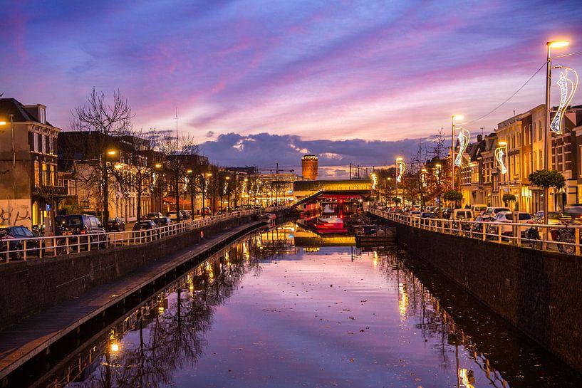 Bijzondere lucht tijdens zonsondergang in Utrecht van De Utrechtse Internet Courant (DUIC)