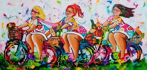 Dames op de fiets II van