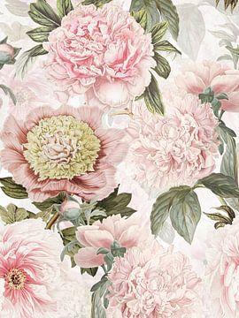 Pastel Vintage Pioenroos Patroon van Uta Naumann