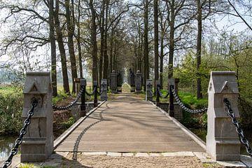 Restaurierte Brücke Heeswijk Schloss von Ingrid Aanen