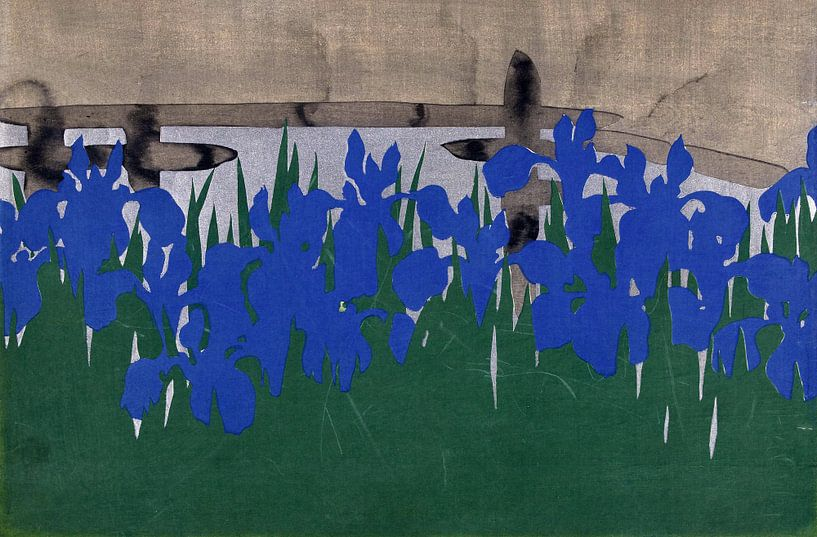 Yatsubashi, Kamisaka Sekka van 1000 Schilderijen
