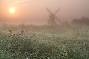 Noordermolen in de mist van