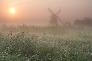 Noordermolen in de mist von robert wierenga