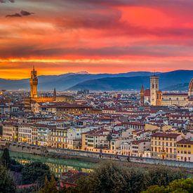 Perfect sunset over Florence van Teun Ruijters