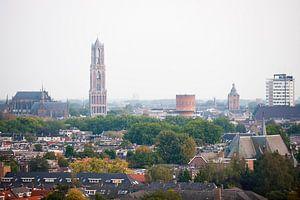 Blik op een herfstkleurig Utrecht. van