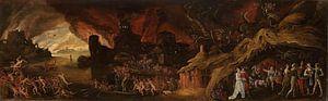 Het laatste oordeel en de zeven hoofdzonden, Jacob Isaacsz. van Swanenburg