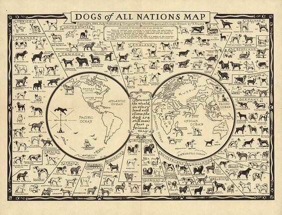 Dogs of All Nations Map van World Maps
