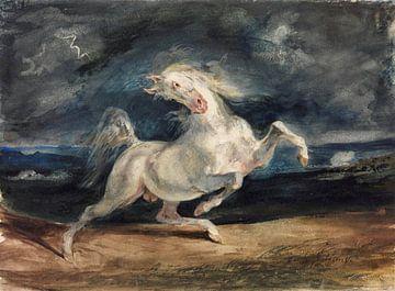 Vom Blitz verängstigtes Pferd, Eugène Delacroix