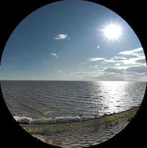 Zeedijk bij Harlingen van hetto hettema