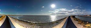 Zeedijk bij Harlingen van