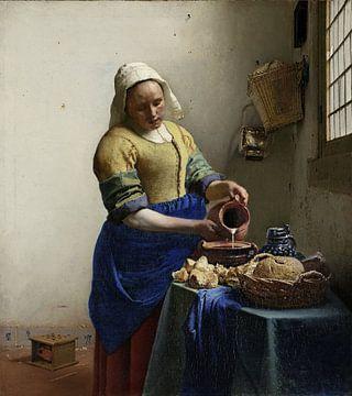 Die Milchmagd (gespiegelt) - Johannes Vermeer