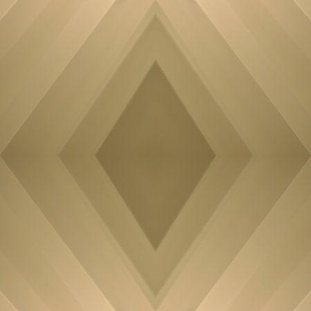 Ruitvormige compositie van een voile gordijn in diverse nuances beige en bruin van Annavee