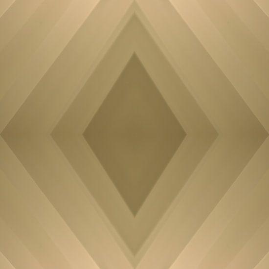 Rautenförmige Komposition eines Voile-Vorhangs in verschiedenen Beige- und Brauntönen