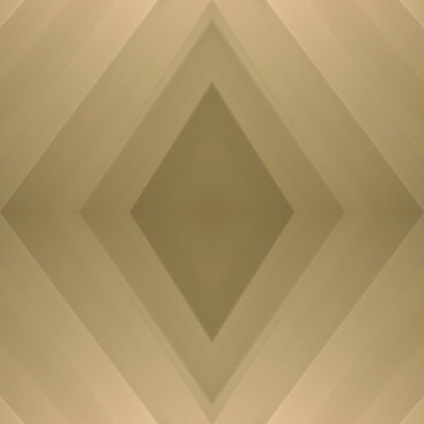 Rautenförmige Komposition eines Voile-Vorhangs in verschiedenen Beige- und Brauntönen von Annavee