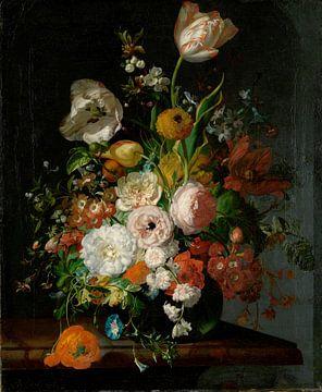 Stillleben mit Blumen in einer Glasvase,Rachel Ruysch