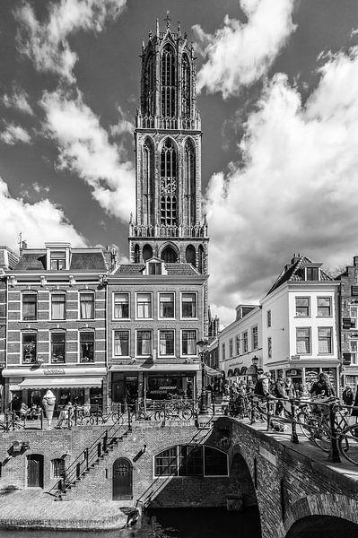 De Domtoren en de Maartensbrug, Utrecht van John Verbruggen
