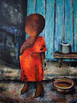 """das rote Kleid von Janny Schilderink......Atelier """"de Tuute """""""