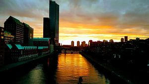 The Golden Hour in Rotterdam van Milind Padalikar