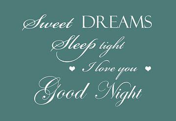 Sweet dreams - Groen van Sandra H6 Fotografie