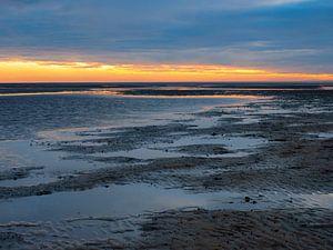 Sonnenuntergang im Wattenmeer von Katrin May