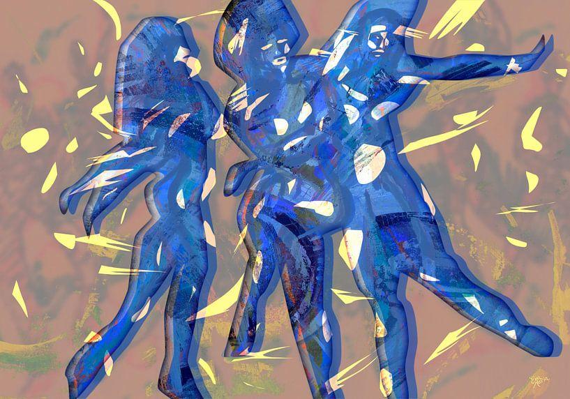 Bewegende feest mensen van ART Eva Maria