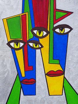 Abstrakt Portrait van Gabi Siebenhühner
