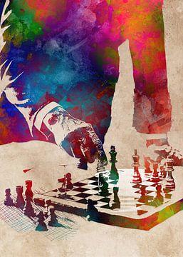 Schach #Schach #Sport von JBJart Justyna Jaszke